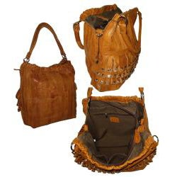Amerileather 'Tutu' Top-grain Lambskin Leather Handbag