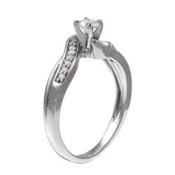 10k White Gold 1/3ct TDW Diamond Engagement Ring (H, I2)