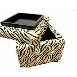 Zebra Storage Cube Chair