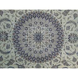 Persian Hand-knotted Fine Nain Ivory Wool/ Silk Rug (10'5 x 13'5)