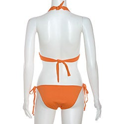 Cot'n by Lucenti Women's Orange Halter String Bikini