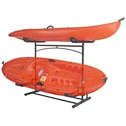 Stoneman Laguna Plus Dual Kayak Black Metal Storage Rack System