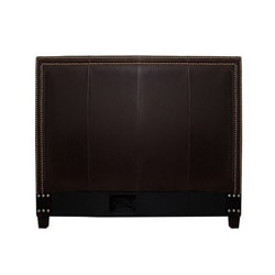 Victoria Dark Brown Leather Full-size Headboard