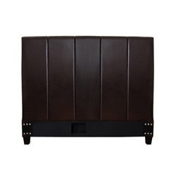 Cairo Dark Brown Leather Full-size Headboard