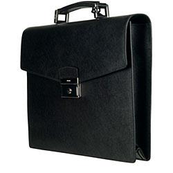 Prada Leather Saffiano Briefcase - 12927735 - Overstock.com ...