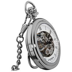 Akribos XXIV Men's Mechanical Stainless Pocket Watch