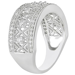 10k White Gold 1/2ct TDW Diamond Openwork  Ring (H-I, I2-I3)