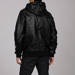 Rocawear Men's Faux Leather Hooded Jacket - Overstock Shopping