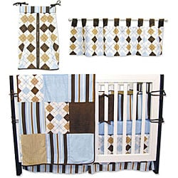 Trend Lab Prep School Blue 6-piece Crib Bedding Set