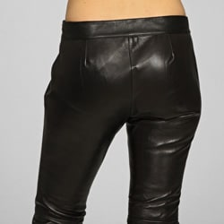 Miss Sixty Women's Black Leather Pants