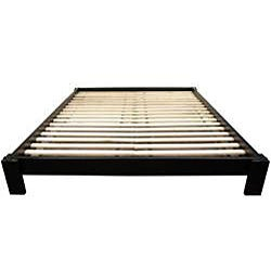 Mahogany Black Twin Tatami Platform Bed (China)