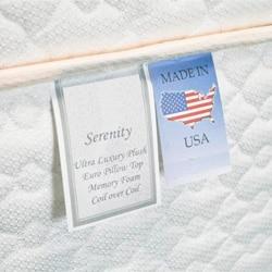 Serenity Euro-Memory 18-inch Full-size Mattress Set