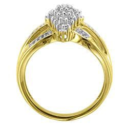14k Gold Vermeil 1/4ct TDW Diamond Fashion Ring (K-L, I1-I2)