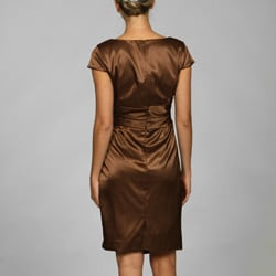 Evan Picone Women's Copper Stretch Satin Dress