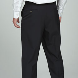 Sansabelt Men's 4 Seasons Navy Flat-front Dress Pants