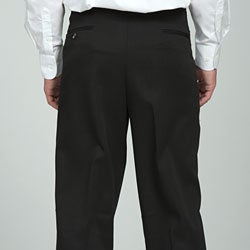 Sansabelt Men's Black Gabardine Twill Trousers