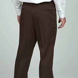 Sansabelt Men's Brown Gabardine Twill Trousers