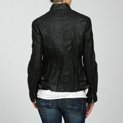 Collezione Women's Plus Size Faux Leather Jacket - Overstock