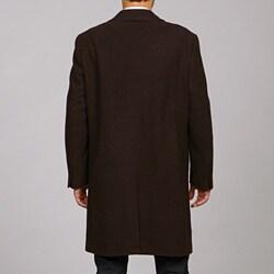 Hart Schaffner Marx Men's Stitched Wool Top Coat
