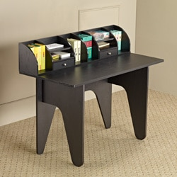 Furniture of America Vio Black Office Desk/ Mini Hutch