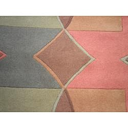 Indo Hand-Tufted Tibetan Multi-colored Wool Rug (2'6 x 8)