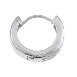 Sterling Essentials Sterling Silver Channel-set Cubic Zirconia Hoop Earrings