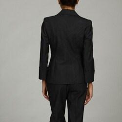 Nine West Women's 2-piece Ribbed Denim Skinny Pant Suit