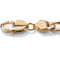 Neno Buscotti 18k Yellow Gold over Sterling Silver Men's 8.5-inch ID Bracelet