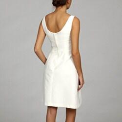 eliza j women's faille waist bow dress  13038998