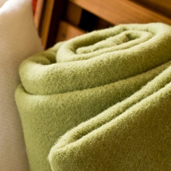 Evora Solid Washable Wool Blanket