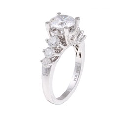14k Gold 1ct TDW Designer Diamond and CZ Engagement Ring (H, SI1)