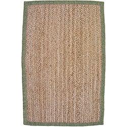 nuLOOM Eco Natural Fiber Chenille Border Jute Rug (8' x 10')
