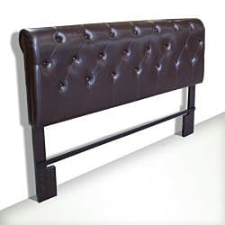 Tufted Bicast Leather Full/ Queen Size Headboard