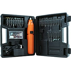 Stalwart 60-piece 3.6-volt Rotary Tool Set with Rechargeable Battery