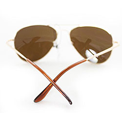 Women's 387 Gold Aviator Sunglasses