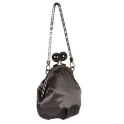Jessica McClintock Large Kiss Lock Oval Frame Evening Bag