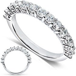 14k White Gold 3/4ct TDW Diamond Wedding Band (H-I, I1-I2)
