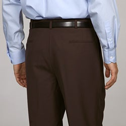 Austin Reed Men's Brown Pleated Brown Dress Pants