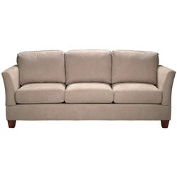 Microfiber 80 inch small space sofa 13097206 overstock for 80 inch couch