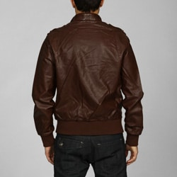 Members Only Men's Vintage Faux Leather Jacket - Overstock