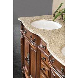OVE Decors Kamila 60-inch Double Sink Vanity with Granite Top