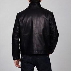 Emanuel Ungaro Men's Lambskin Moto Jacket