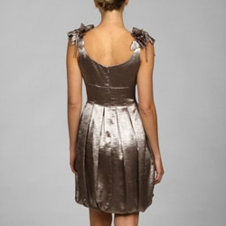 Maggy London Women's Metallic Sleeveless Bubble-hem Dress
