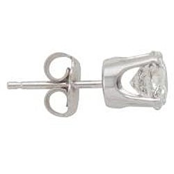 14k White Gold 1 1/2ct TDW Diamond Stud Earrings (I-J, I2-I3)