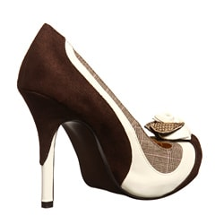 Naughty Monkey Women's 'Classy Moves' Mixed Media Heels