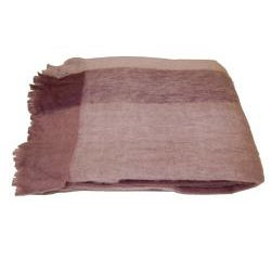Mohair Blend Mauve Checkered Throw (India)