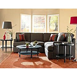 Loomis Fabric Dumdum Charcoal Sectional Sofa Set