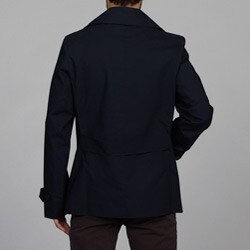 Burberry Men's Navy Double-breasted Trench
