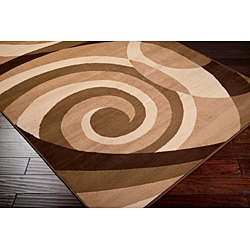 Loomed Stella Smith Chocolate Geometric Rug (5'3 x 7'6)