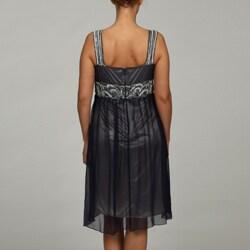 Patra Ltd Women's Plus Size Beaded Scoop Neck Dress